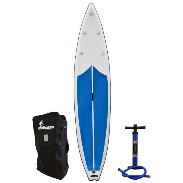 "Airboard Shark DL Sky Blue 12'6"" x 30"" SUP Board 2020"