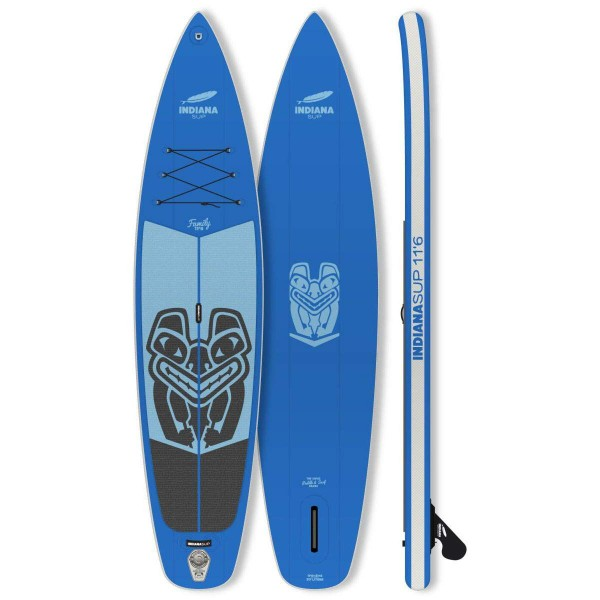 """Indiana Family Pack BLUE 11'6"""" x 31"""" mit 3-teiligem Paddel Inflatable SUP Set 2019"""