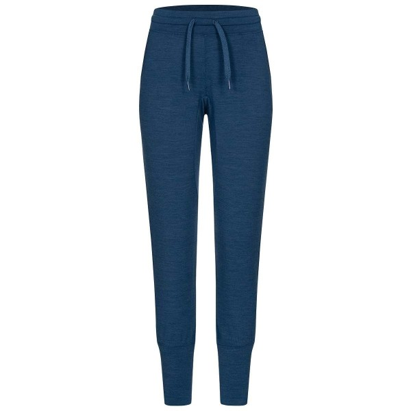 Super.Natural W Essential Cuffed Pant Merino Damen Jogginghose blau