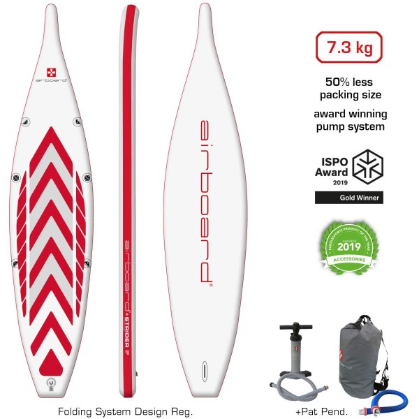 """Airboard Strider Ultralight Performance 12'6"""" x 32"""" SUP Board 2021"""