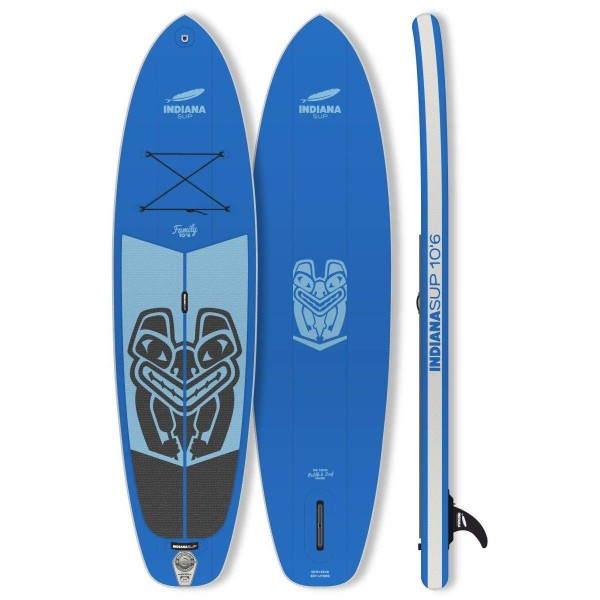 "Indiana Family Pack BLUE 10'6"" x 32"" mit 3-teiligem Paddel Inflatable SUP Set 2019"