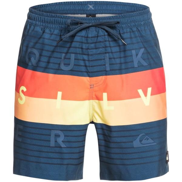 Quiksilver Word Block 17 Bade Boardshorts blau
