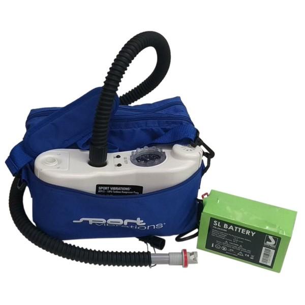 Sport Vibrations SUP Turbinenpumpe inkl. Blei Akku Ladegerät und Tasche