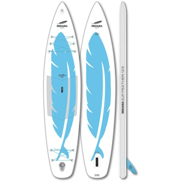 """Indiana Feather 12'6"""" x 32"""" SUP Board 2020"""