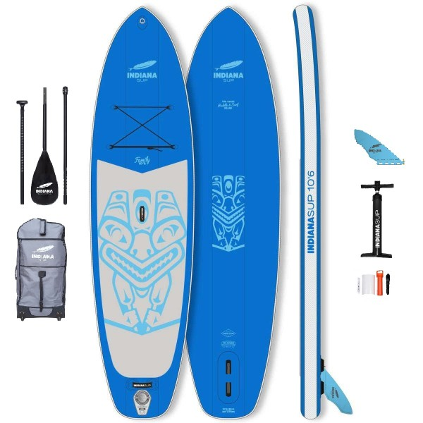 """Indiana Family Pack Blue 10'6"""" x 32"""" SUP Board Set 2021"""