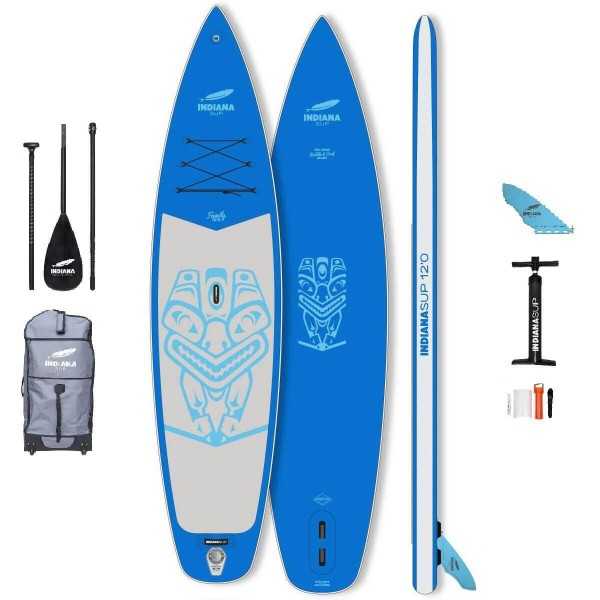"""Indiana Family Pack BLUE 12'0"""" x 33"""" SUP Board Set 2021"""