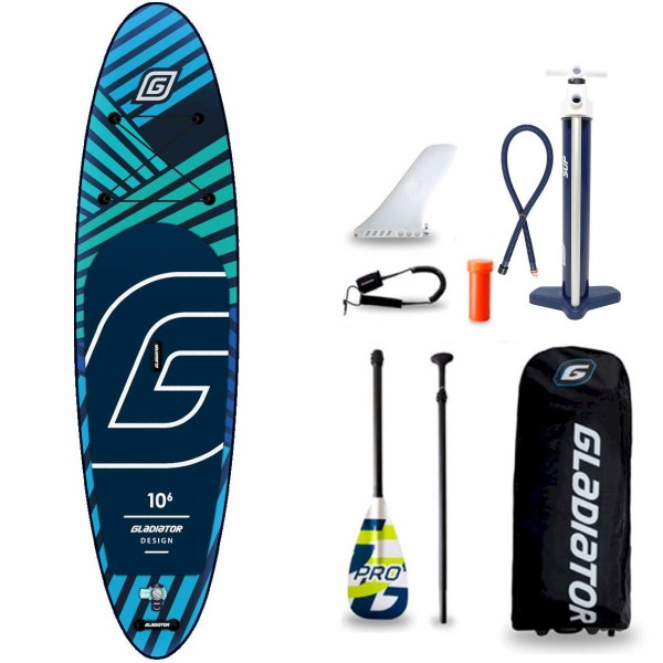 "Gladiator Pro DSGN 10'6"" x 32"" SUP Board Set 2021"