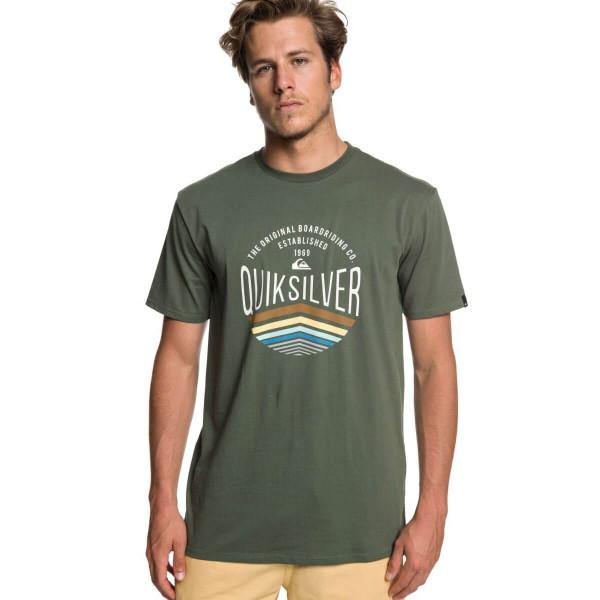 Quiksilver Sunset Logo SS T-Shirt grün