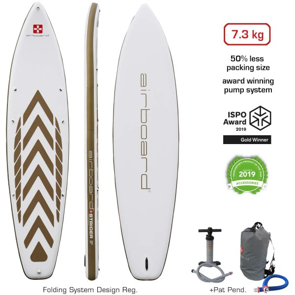 """Airboard Strider Gold Large 12'6"""" x 34"""" SUP Board 2021"""