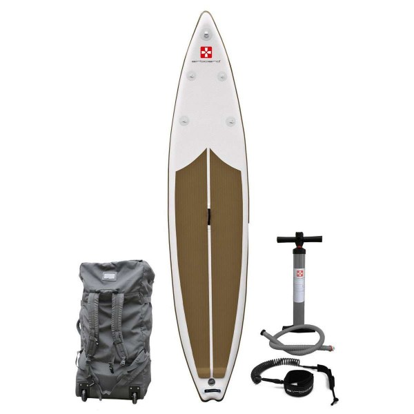 "Airboard Shark Light Gold 12'6"" x 30"" SUP Board 2020"