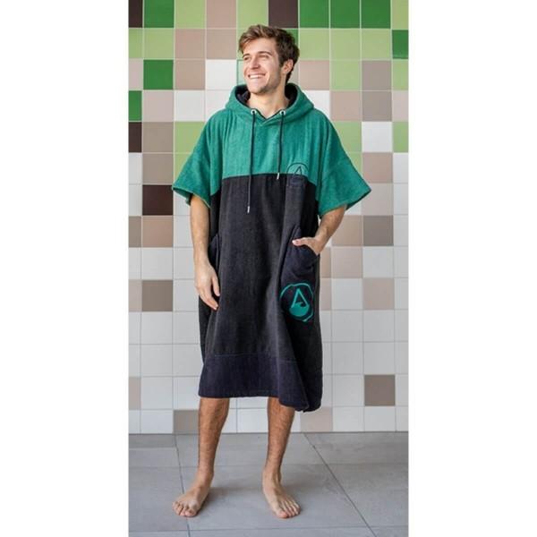 Wave Hawaii Cotton Poncho Move L grün schwarz
