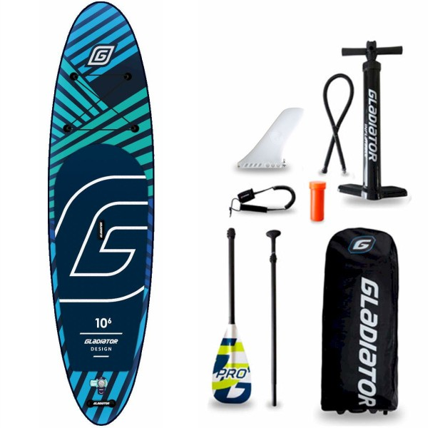 "Gladiator Pro DSGN 10'6"" x 32"" SUP Board Set 2021"