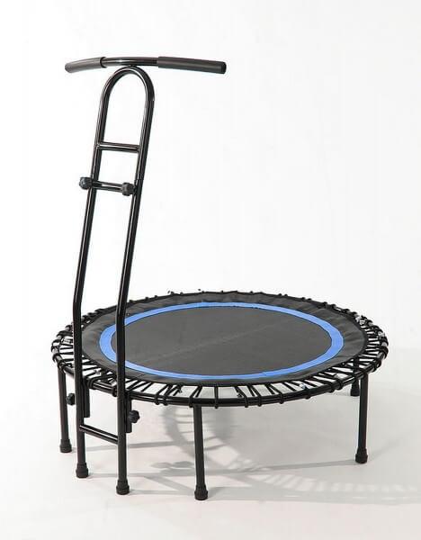 Joka Fit Trampolin Cacau Indoor Fitnesstrampolin schwarz blau