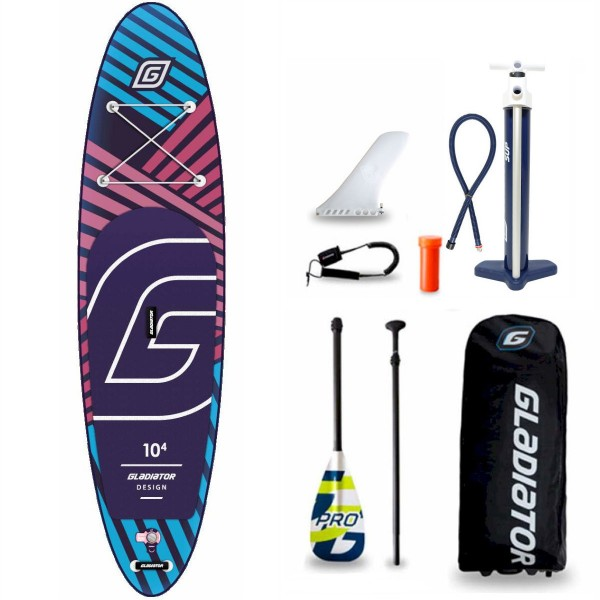 "Gladiator Pro DSGN 10'4"" x 31"" SUP Board Set 2021"