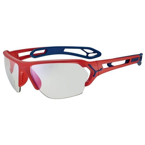 Cebe S Track L Sportbrille matt red blue