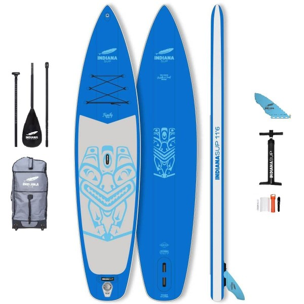 """Indiana Family Pack BLUE 11'6"""" x 31"""" SUP Board Set 2021"""