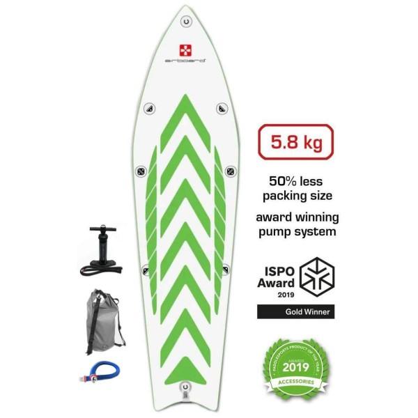 "Airboard Hike Ultralight Green 9'9"" x 31"" SUP Board 2021"