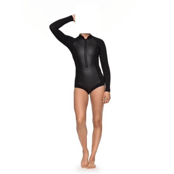 Roxy 1.0 Satin FZ LS Cheeky Damen Neoprenanzug schwarz