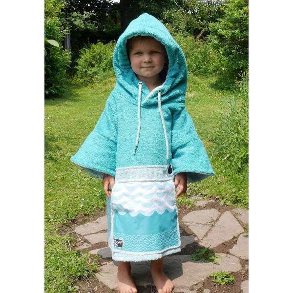 Wave Hawaii Kinder Ponchini Mini Poncho blau