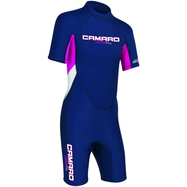 Camaro Junior Flex Shorty Kinder Neoprenanzug blau pink