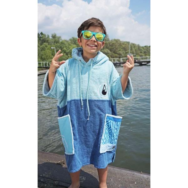 Wave Hawaii Ponchini Maxi Kinder Poncho blau