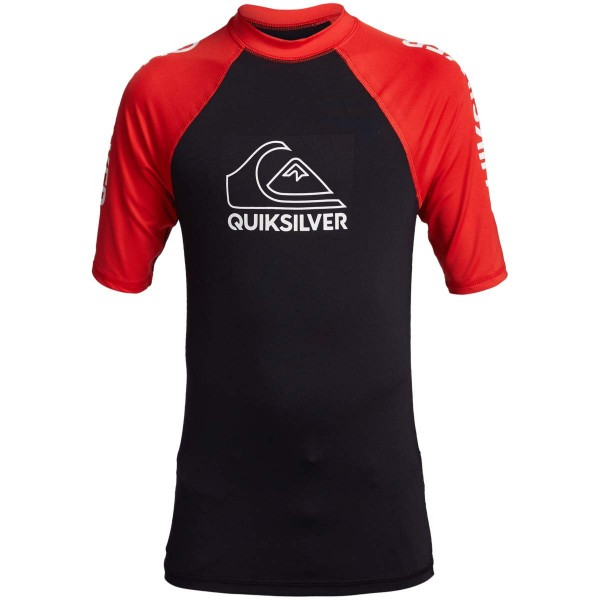 Quiksilver On Tour SS Youth Kinder Funktionsshirt schwarz rot